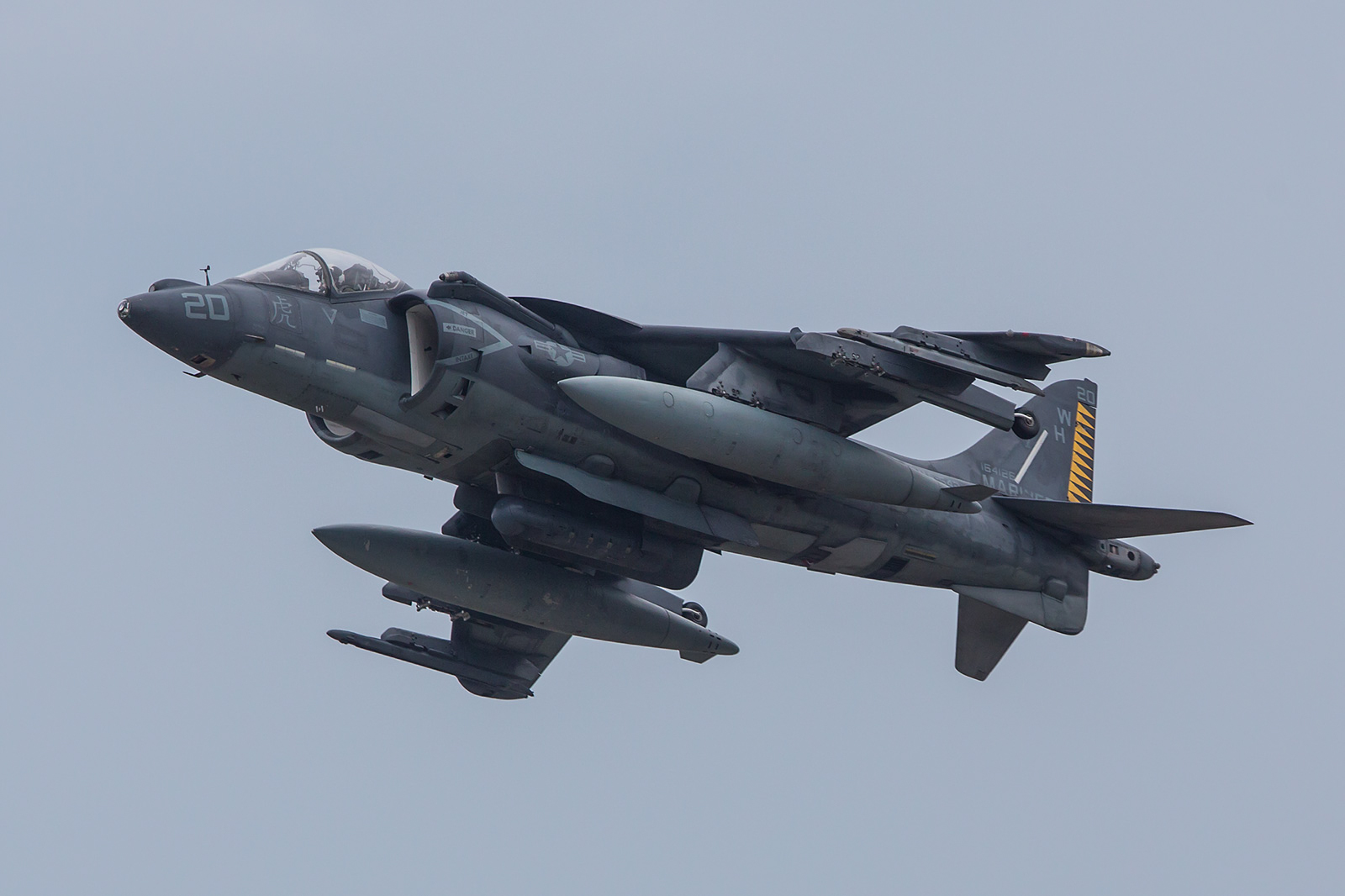 Auch einige AV-8B Harrier aus Cherry Point, North Carolina waren vor Ort.