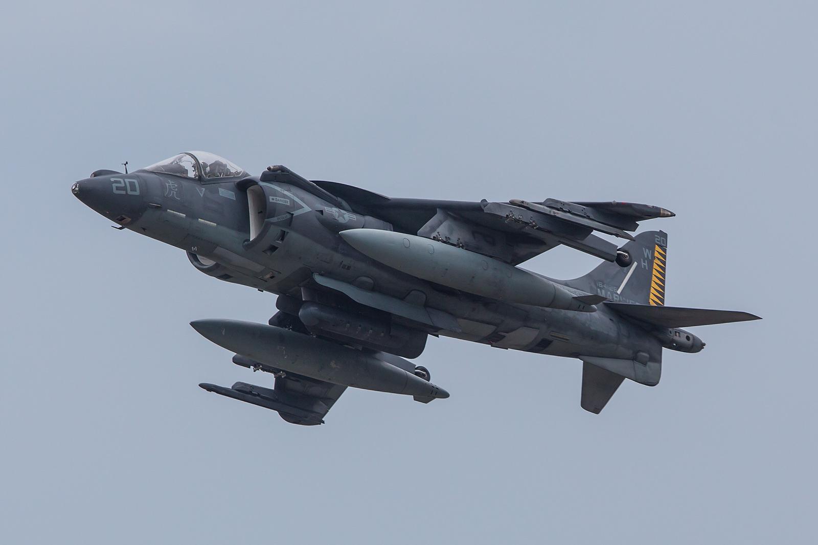 Auch einige AV-8B Harrier aus Cherry Point, North Carolina waren vor Ort.
