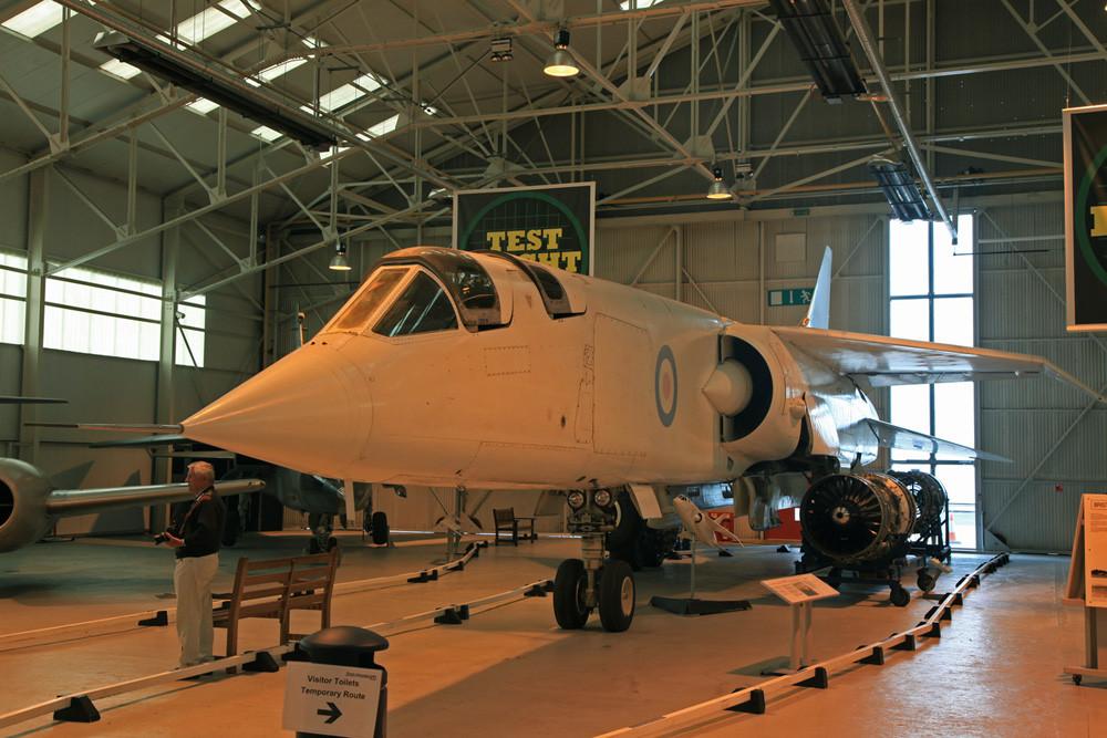 Prototyp des Aufklärungsflugzeuges BAC TSR-2