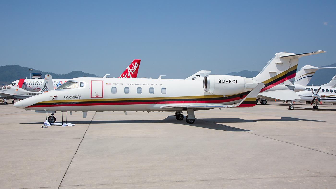 Lear 60 der Malaysischen Zivilluftfahrtbehörde.