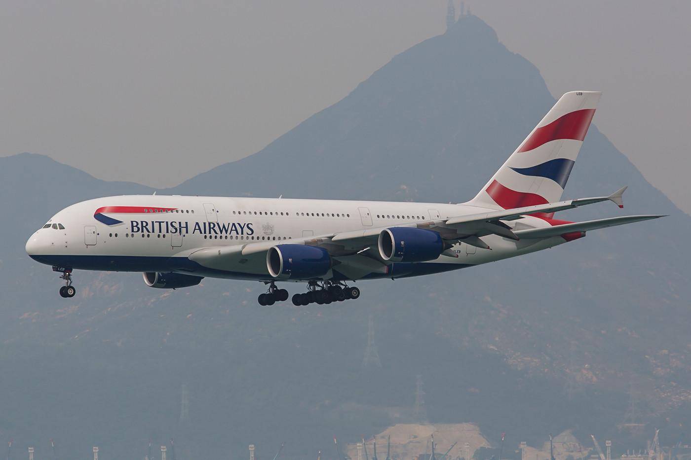 Aus London kommt täglich eine A 380 der BA.