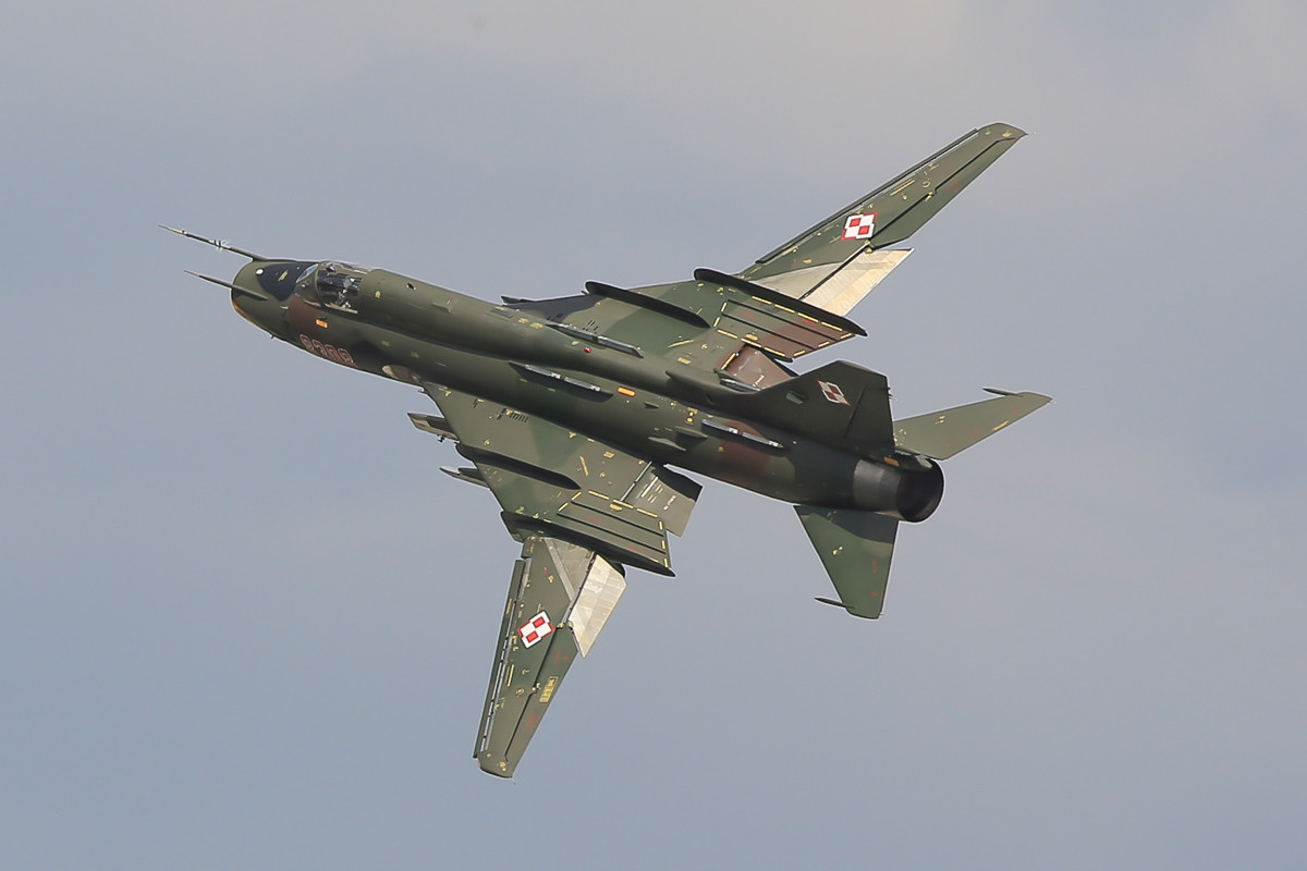 Eine SU-22 nach Touch-and-go.