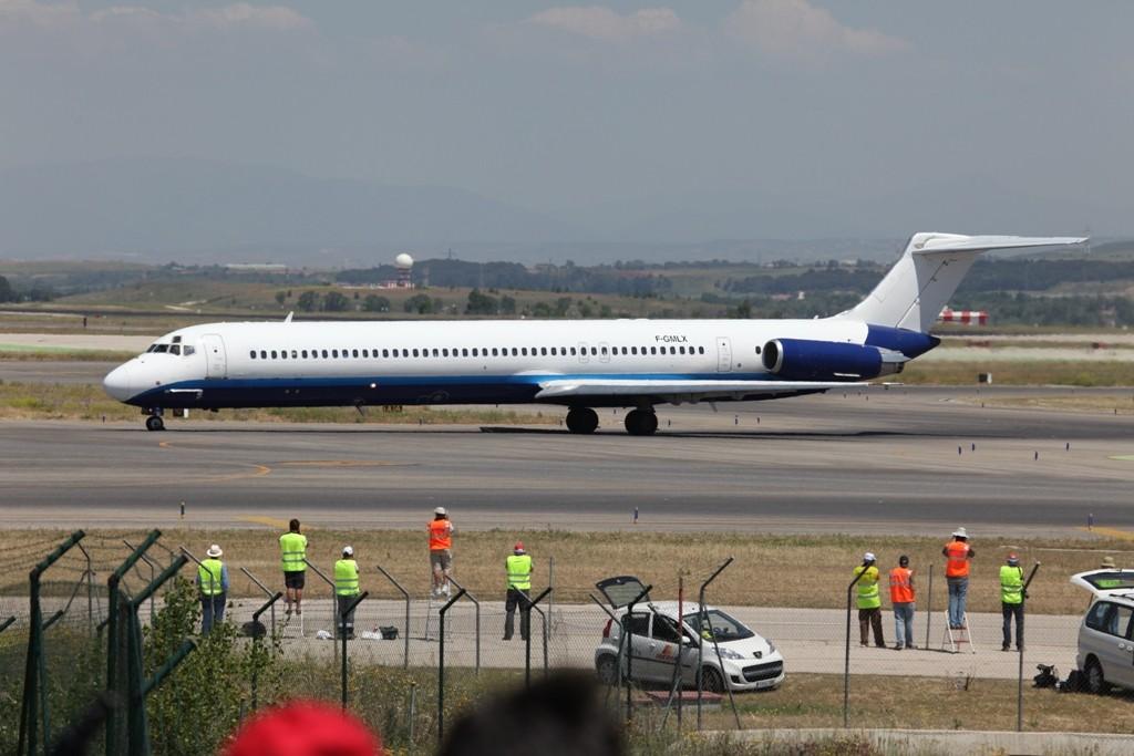 Und eine zweite MD-83 von Blue Line.