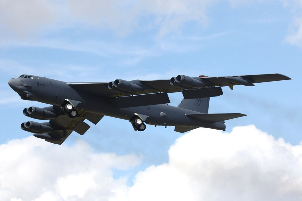 B-52H von der Minot AFB in North Dakota.