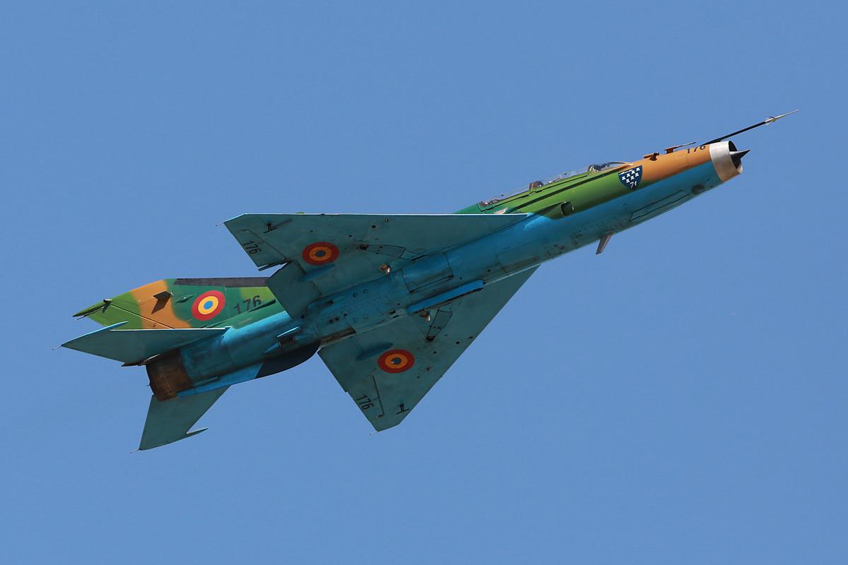 Das Display der Mig-21 ist sehr schnell, da sie nicht wirklich über Langsamflugeigenschaften verfügt.
