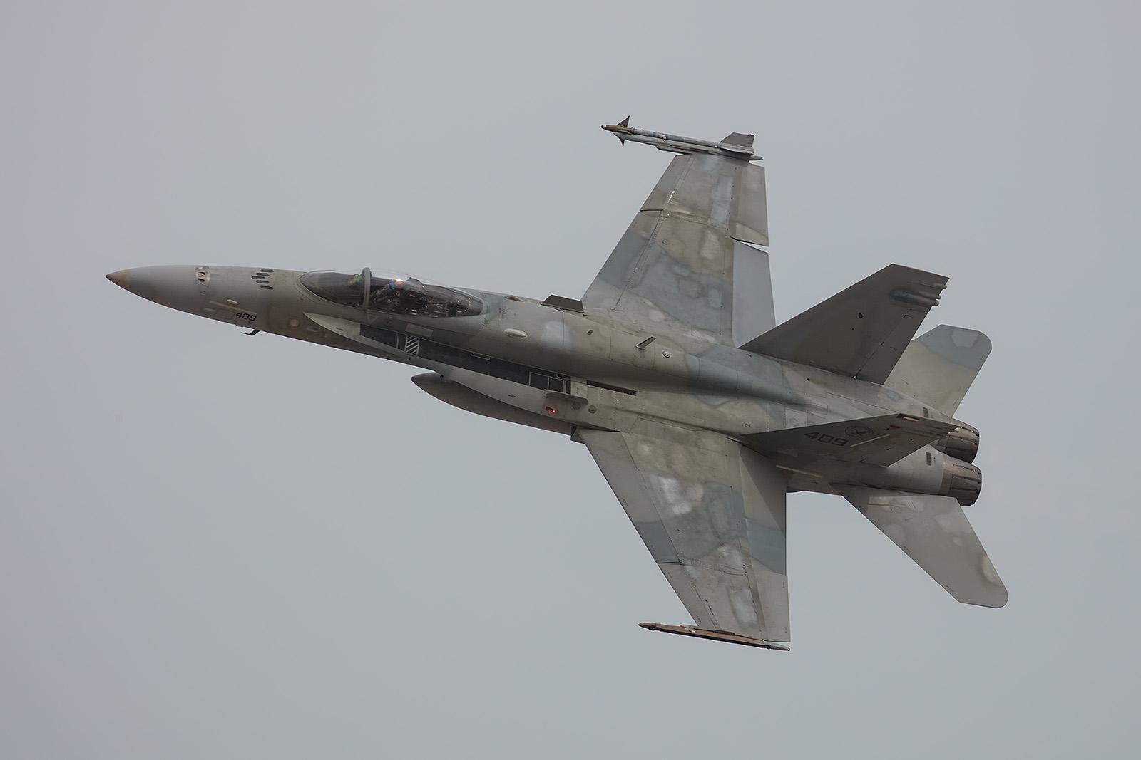 Darauf hatte ich gehofft, die McDonnell Douglas F/A-18 Hornets der KAF.