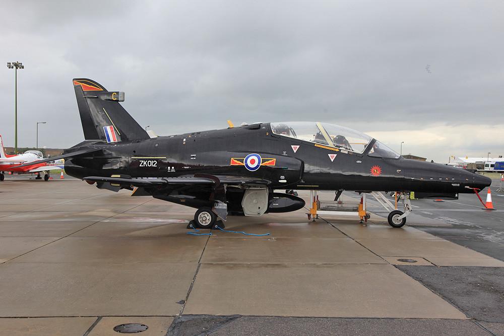ZK012, ein BAe Hawk T.2 aus RAF Valley.