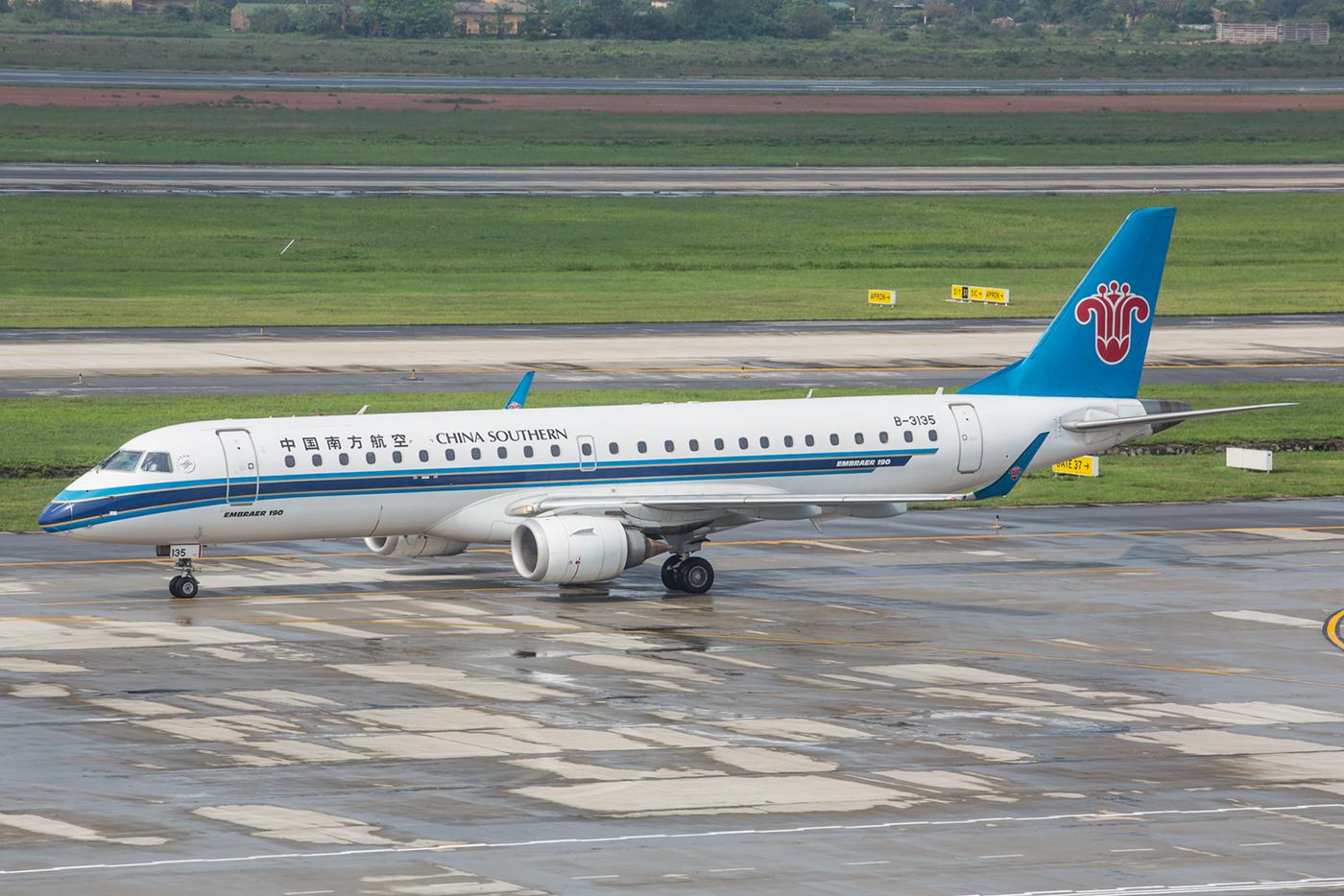 Eine tolle Überraschung waren die Embraer der China Southern.