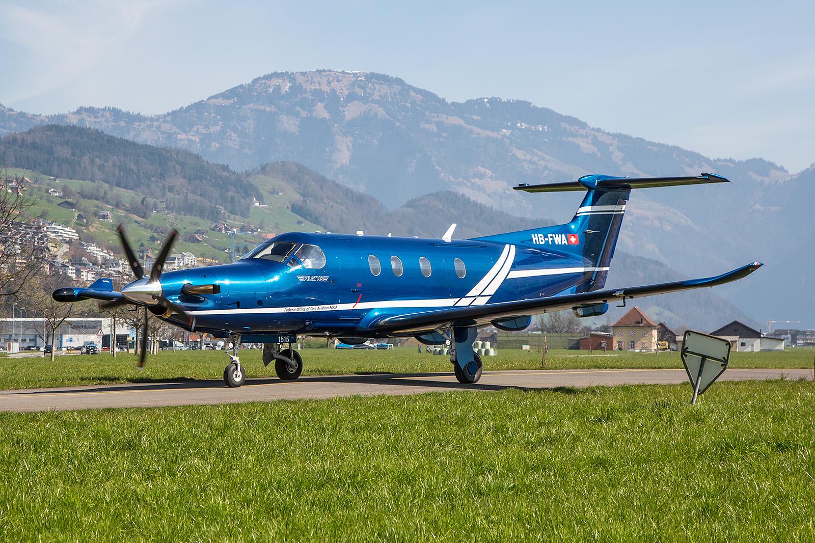 PC-12NG der schweizerischen Zivilluftfahrtbehörde FOCA.