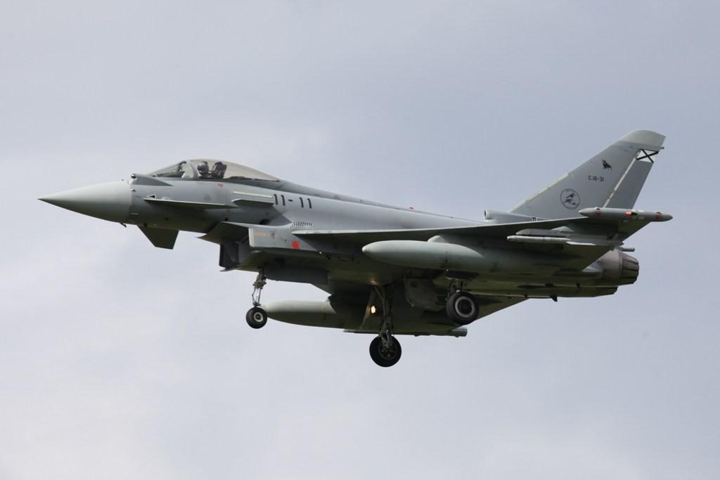 EF 2000 Typhoon der Ala 11 aus Moron.