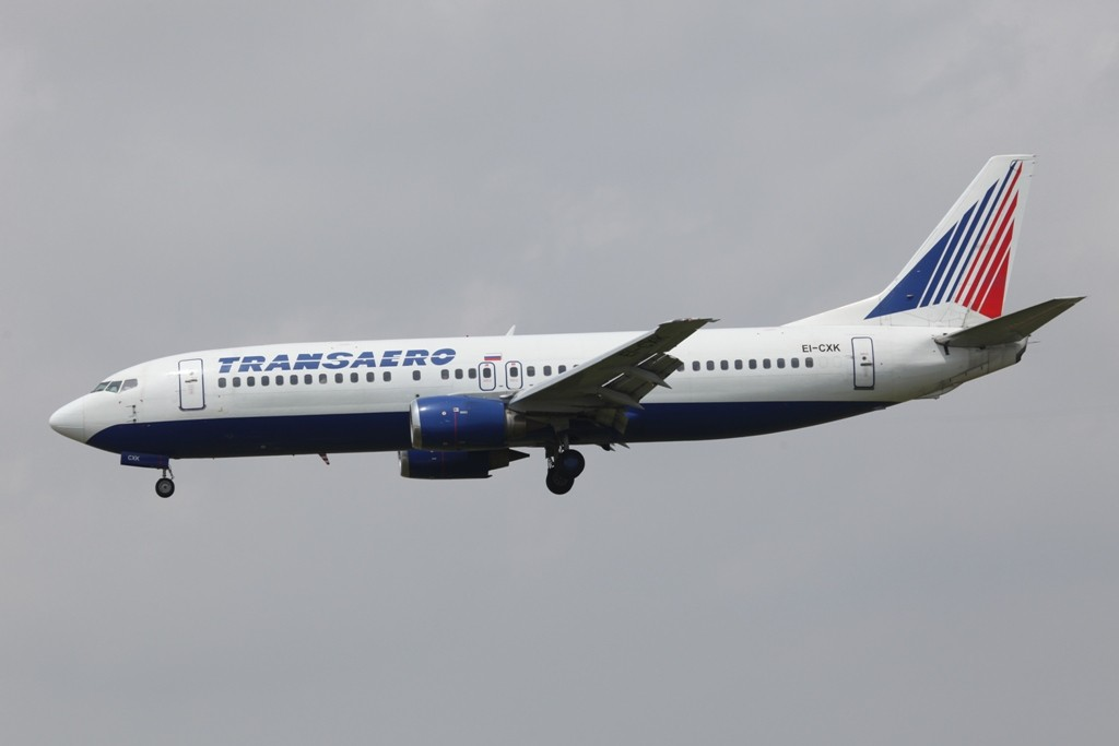 Transaero Boeing 737-400 aus Moskau