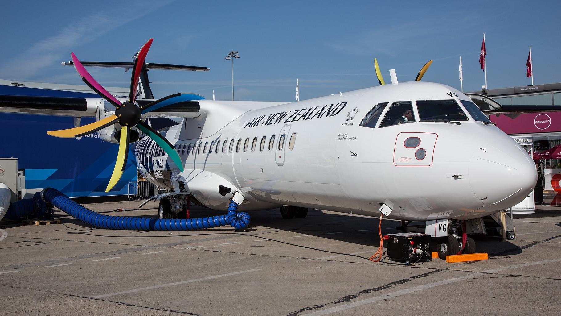 Mount Cook Airline wird der künftige Betreiber dieser ATR 72-600 im Auftrag der Air New Zealand.
