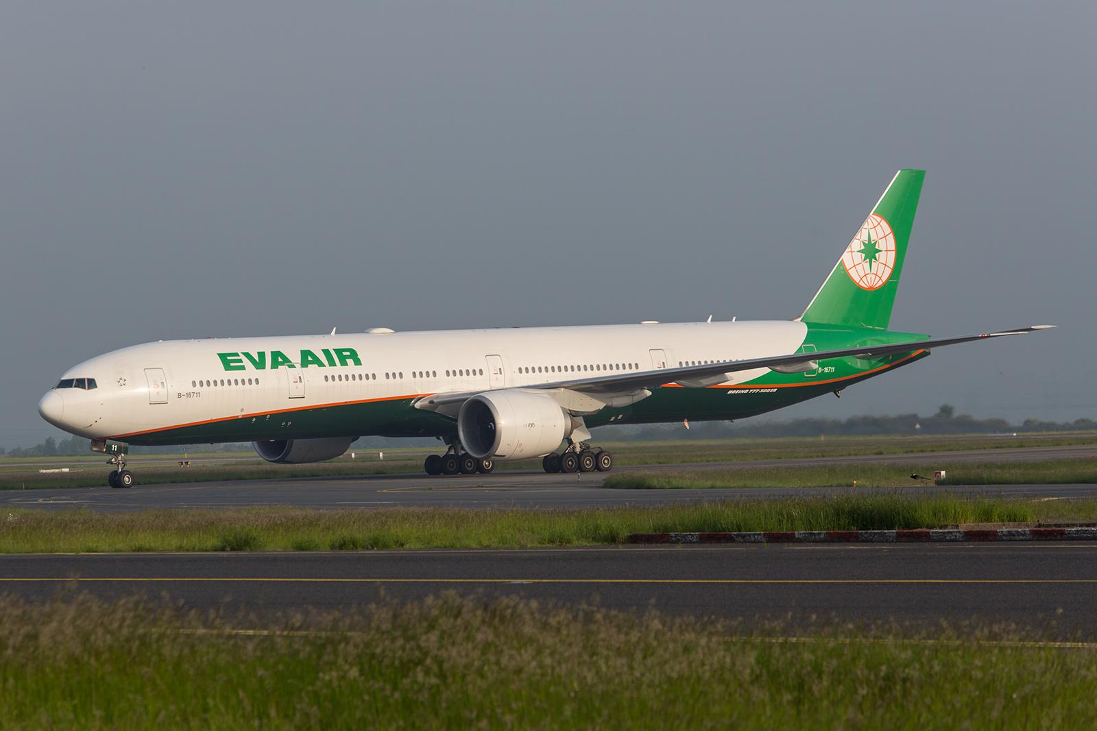 Boeing 777-300 der Eva Air aus Taiwan.
