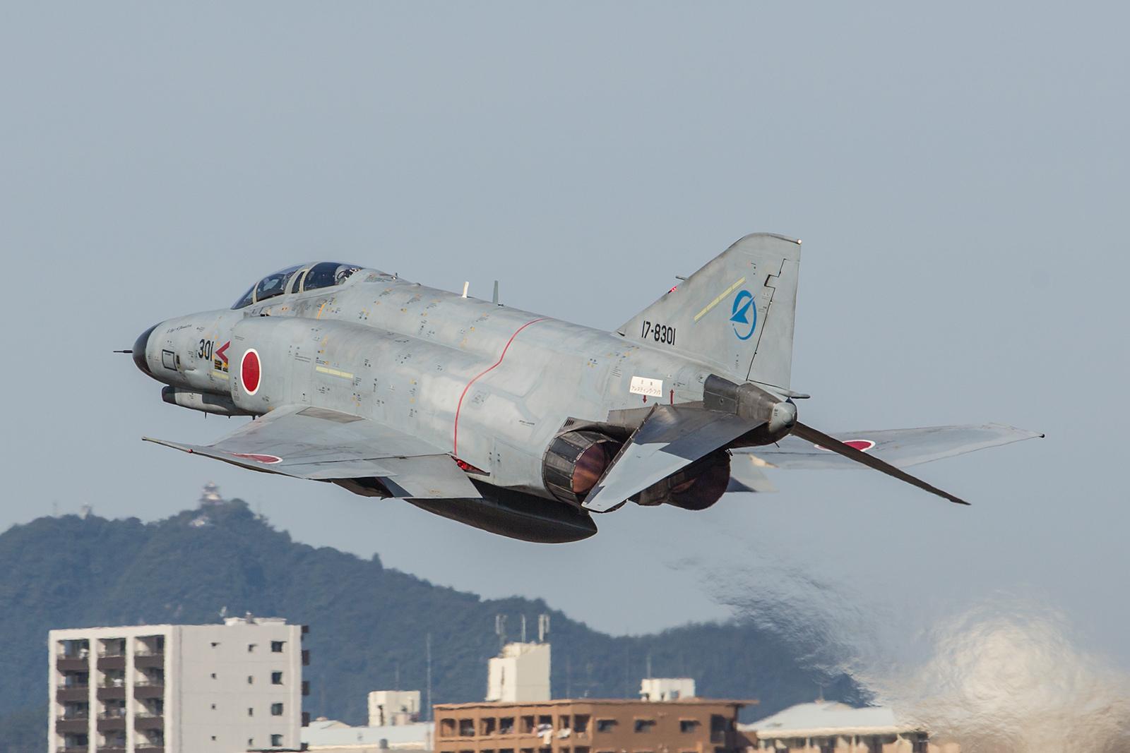 """Die erste F-4 der JASDF, ausgeliefert 1971 ist sie eine von wenigen Exemplaren, die nicht auf """"Kai-Standard"""" aufgerüstet wurde und noch immer fliegt."""