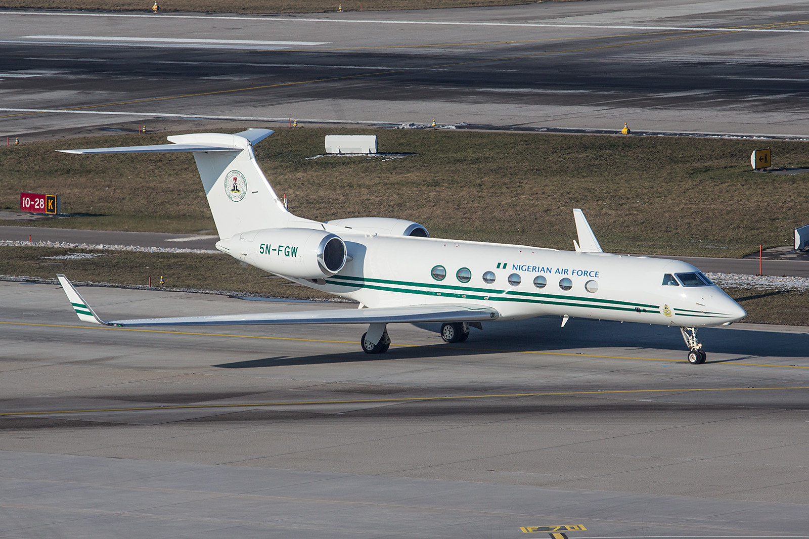 5N-FGW, Gulfstream 550 der Nigerian Air Force