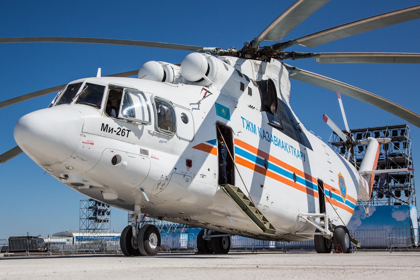 Die Mi-26 aus dem liegen.
