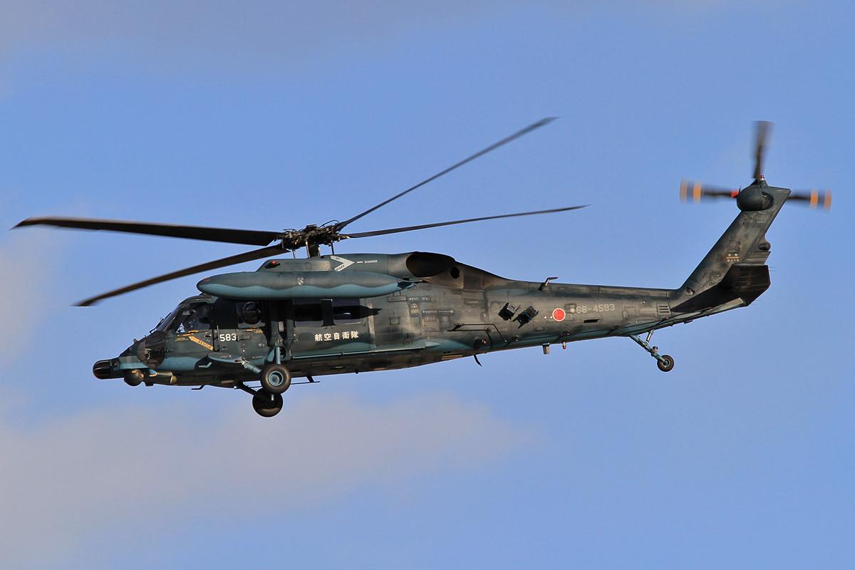UH-60 nach einer Mission.