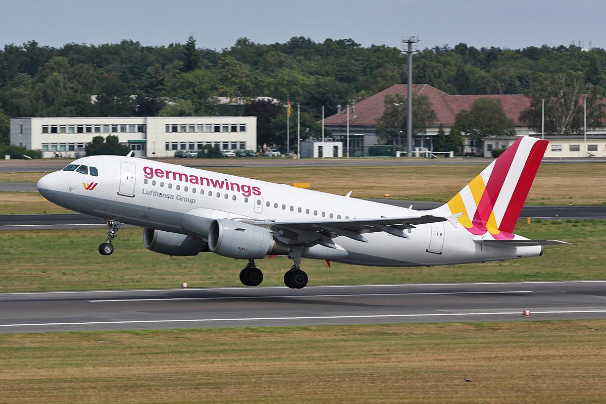 A-319 in den neuen Farben der Germanwings.