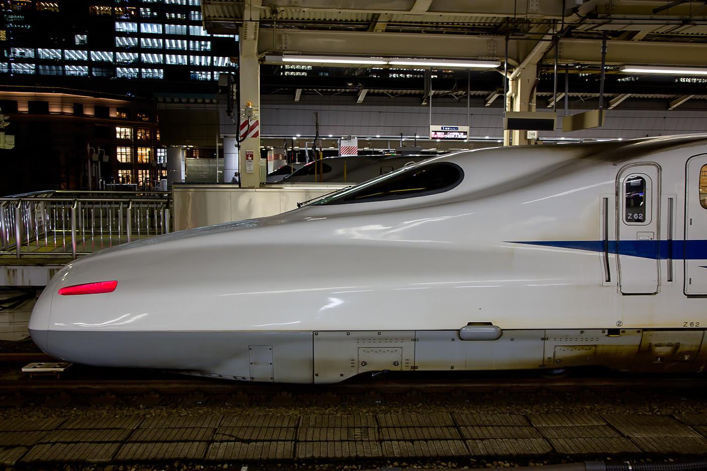 Profilaufnahme eines N700 der JR Central in Tokyo Station.