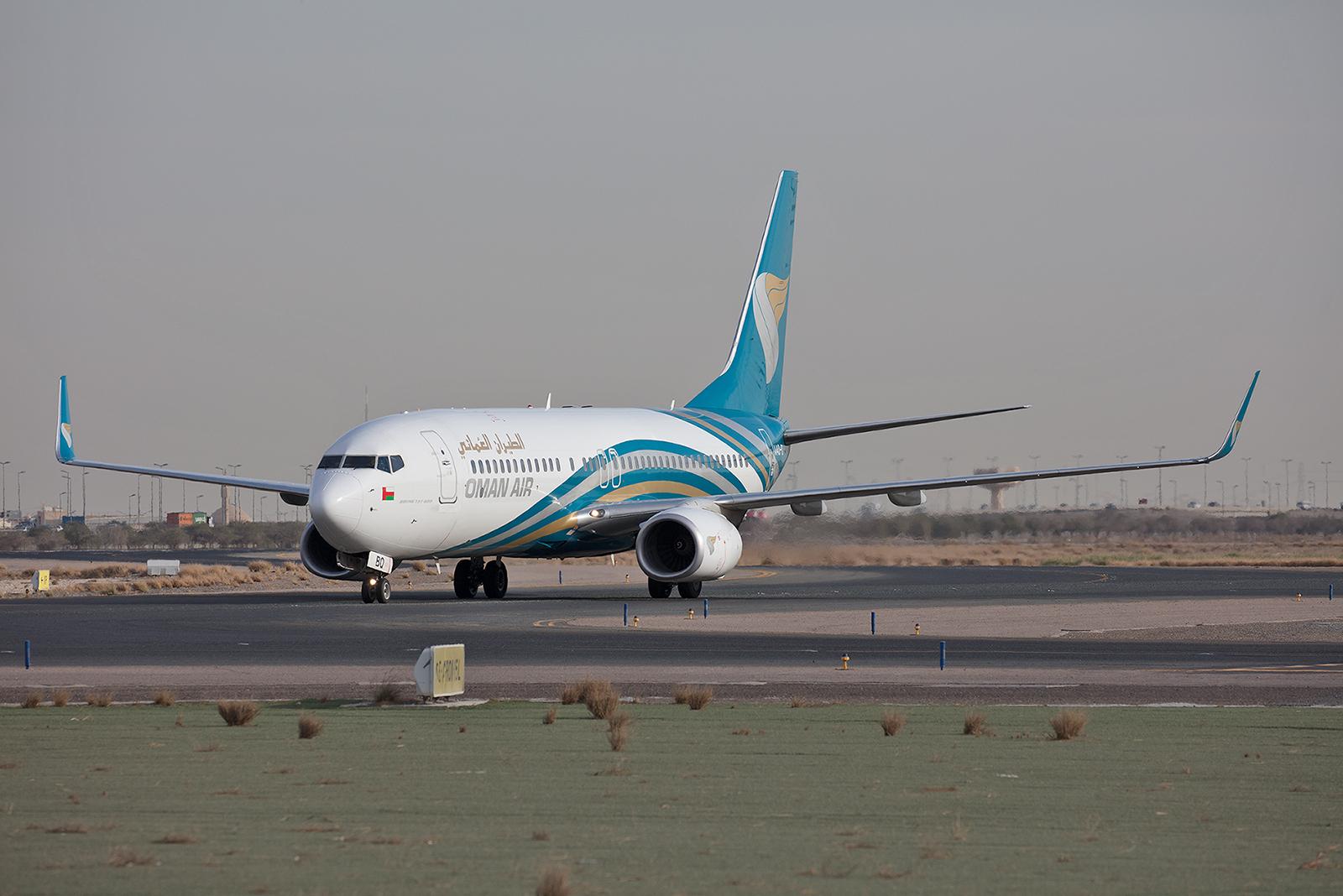 Aus dem Oman kam diese Boeing 737-800.