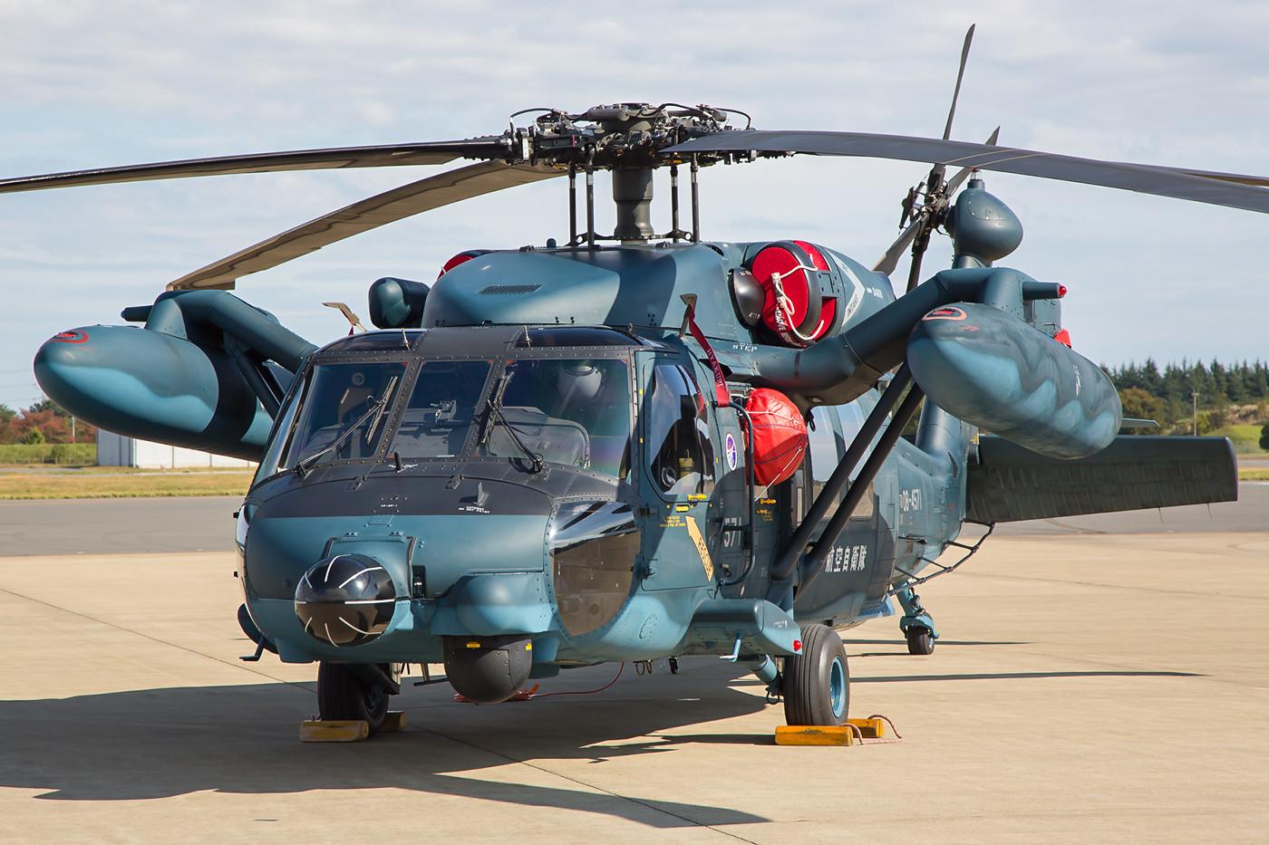 Diese UH-60J gehört zur Rescue-unit in Hyakuri.
