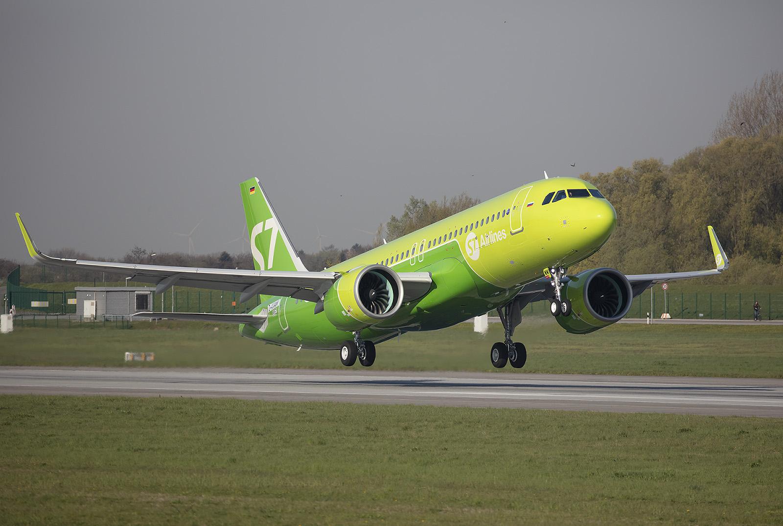 Die S7 Airlines aus Russland betreibt etliche Maschinen der A 320-Familie.