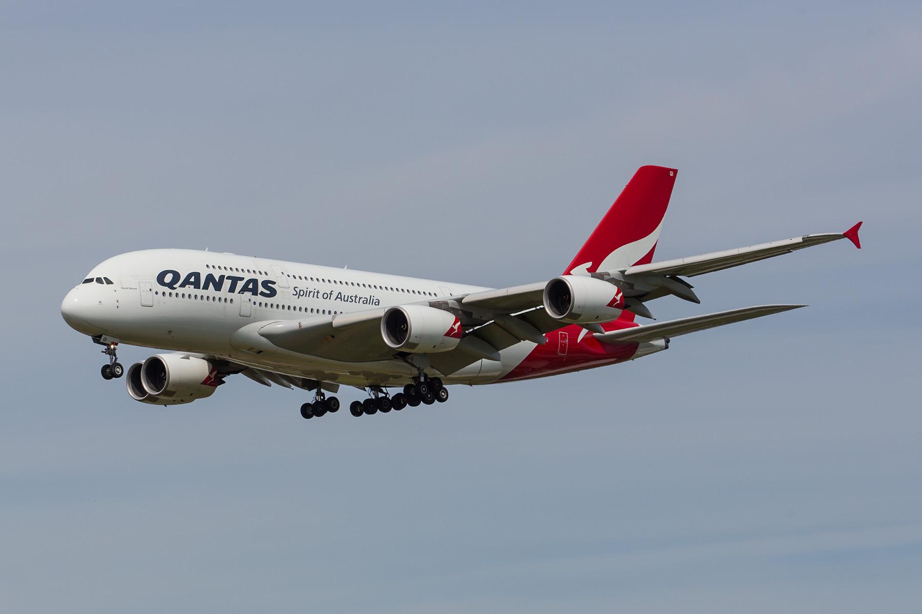 Die letzte Verbindung der Qantas nach Europa.