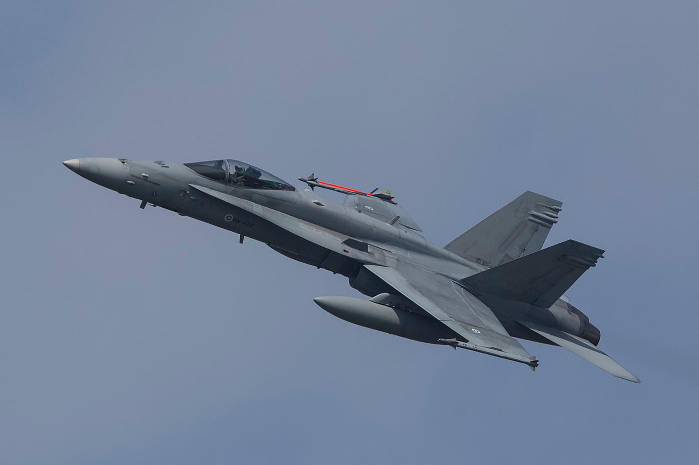 Finnische F-18 zu fotografieren ist nicht immer ein Vergnügen.