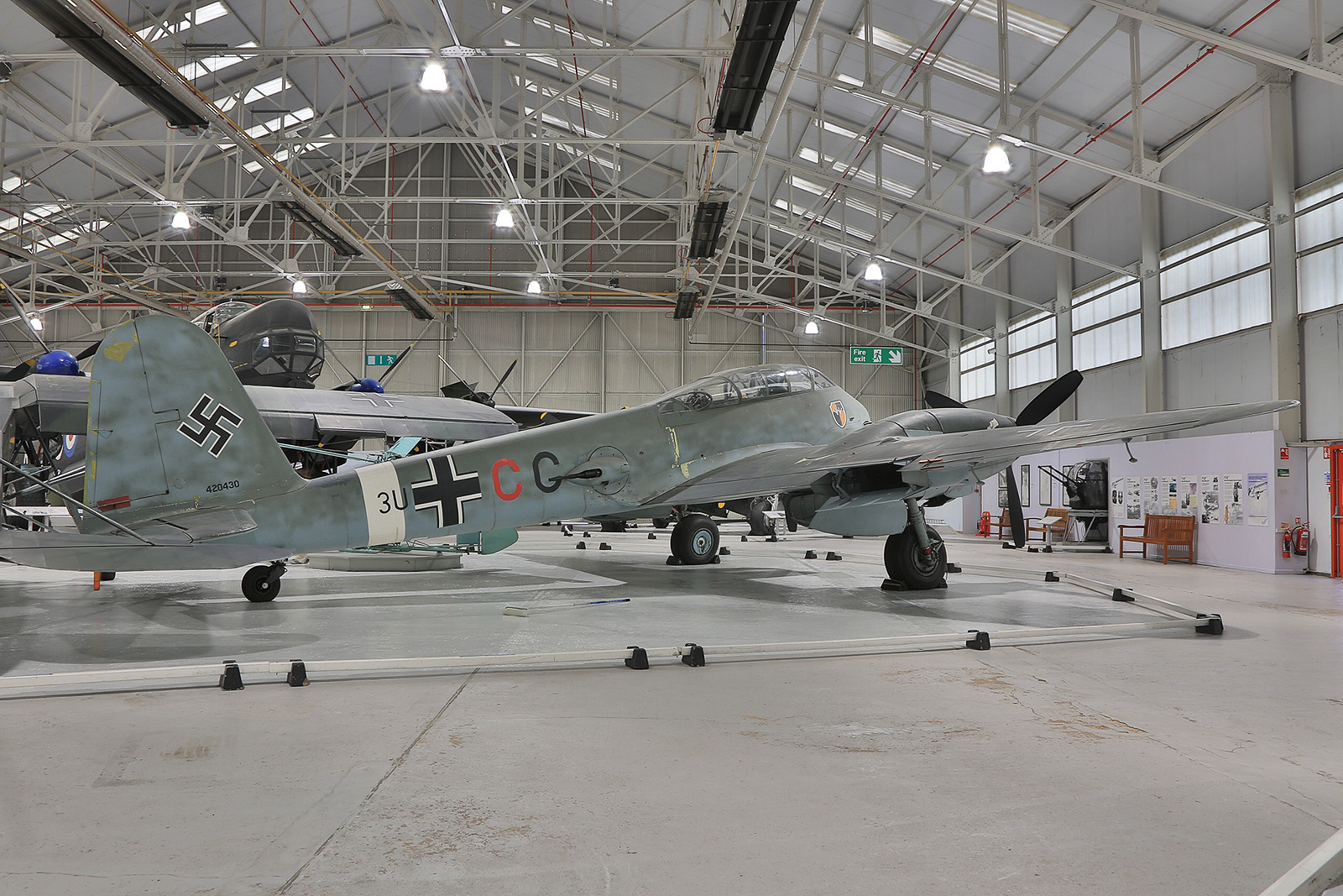 Das letzte erhaltene Exemplar der Messerschmitt Me-410.