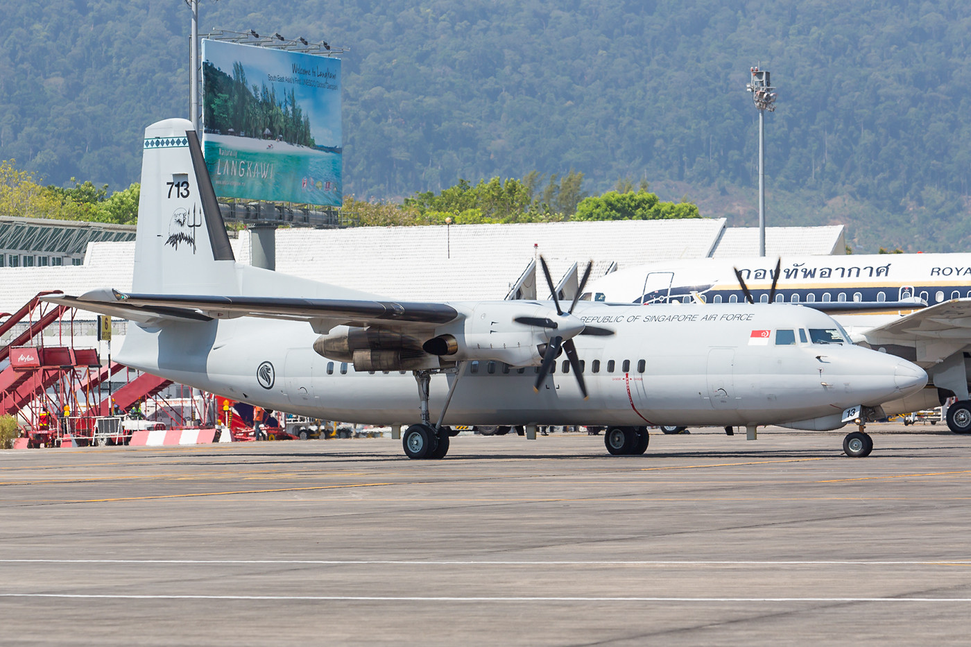 Fokker 50 der Singapore Air Force.