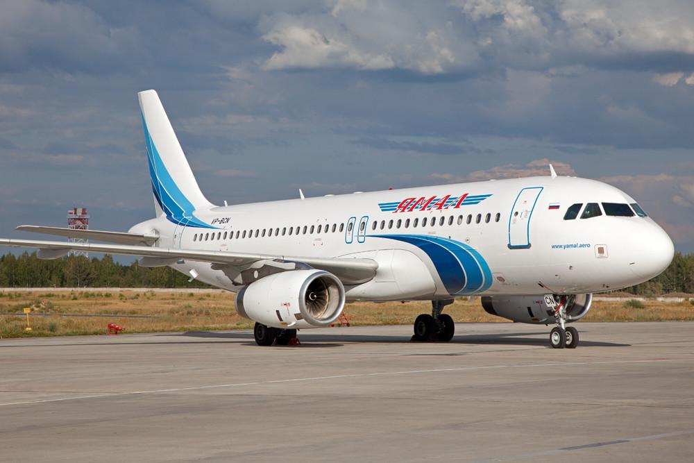 YAMAL hat seine Flotte u.a. um diesen Airbus ergänzt.