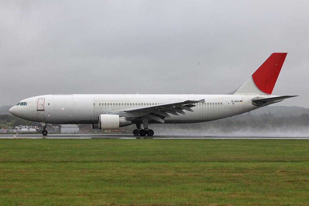 A300 des DHL noch in den Farben von Japan Airlines