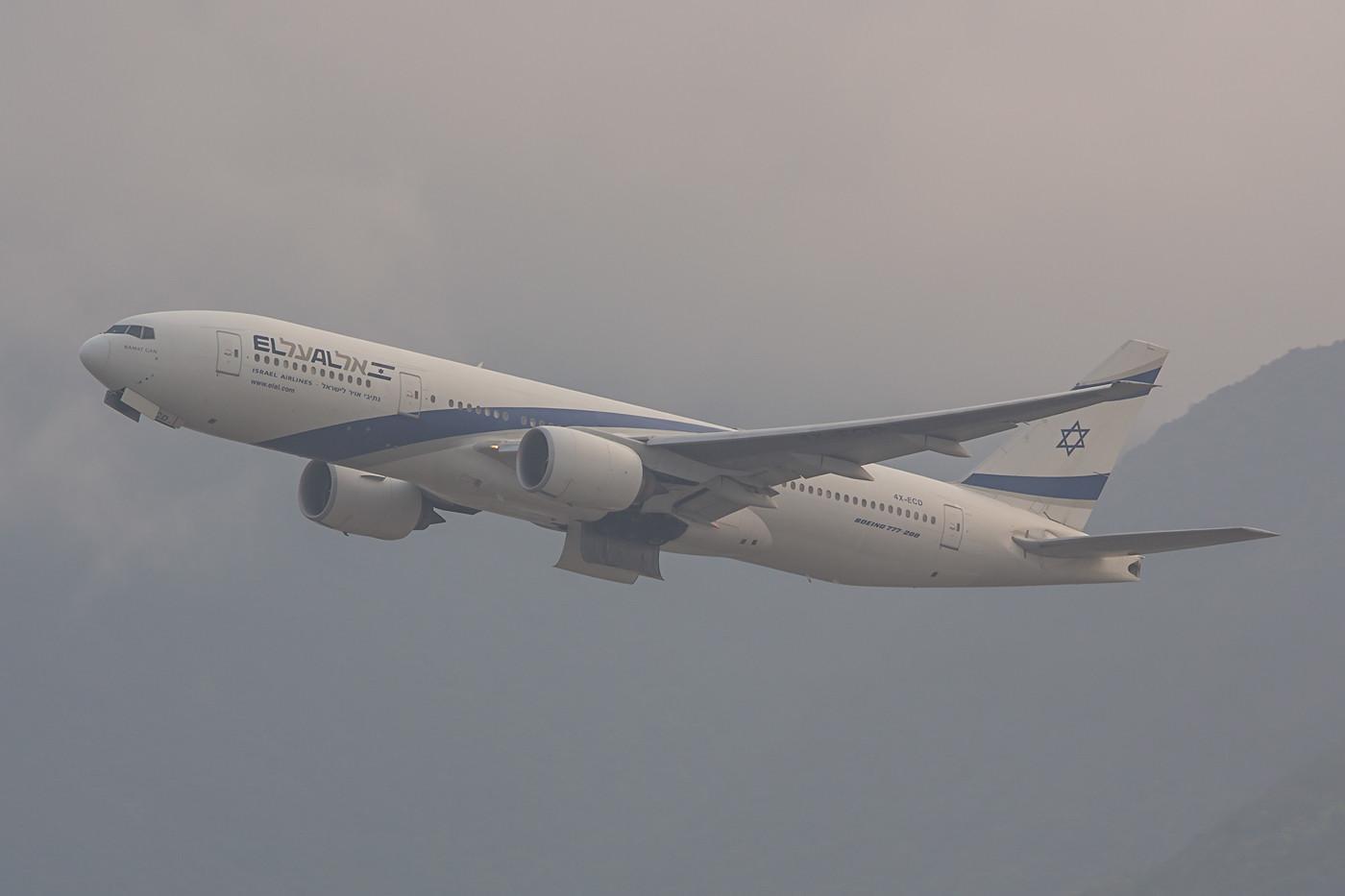 El AL kommt mit Boeing 777 nach HKG.