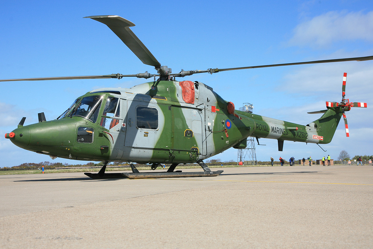 Westland Lynx der Royal Marines