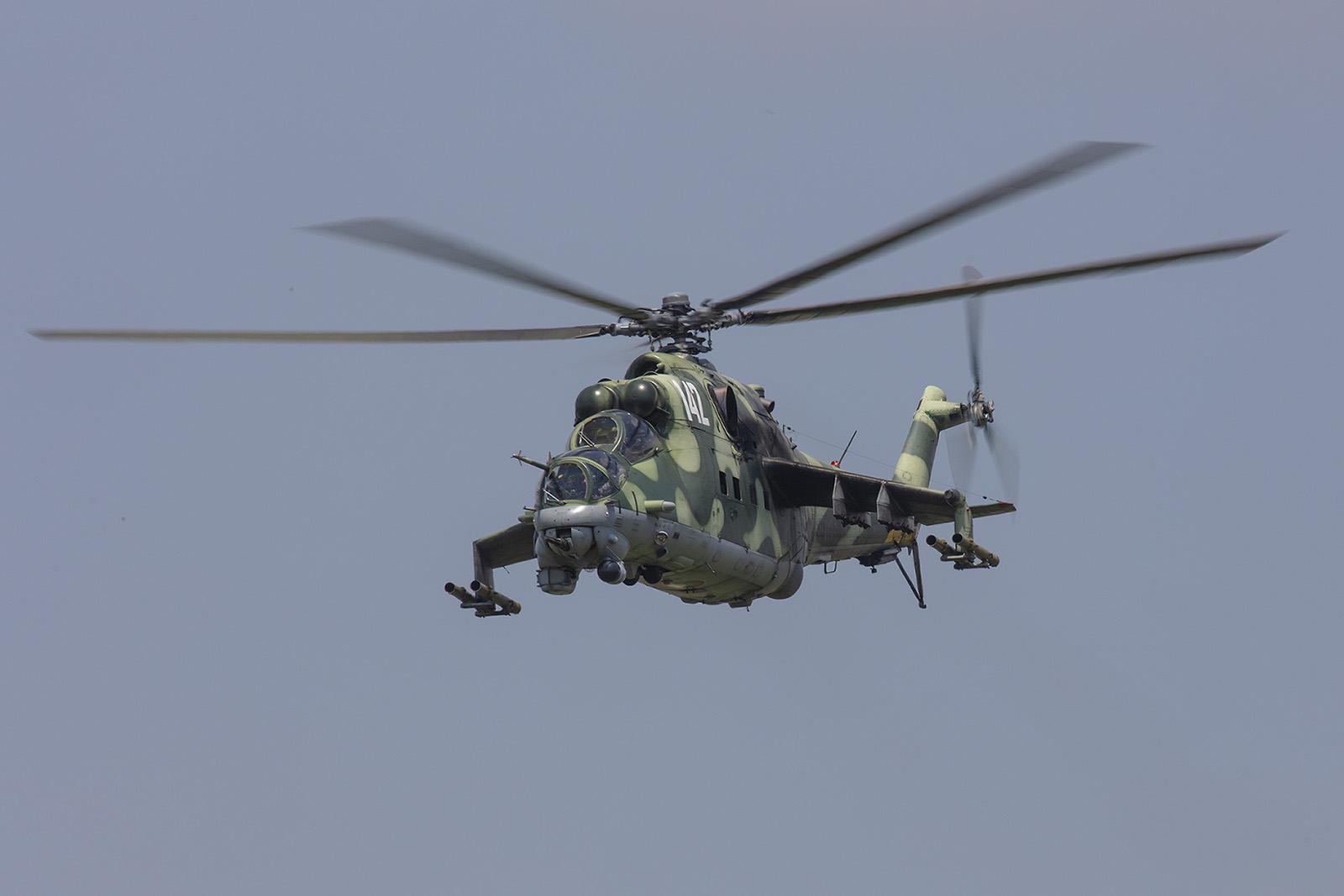 Beindruckend in der Optik und im Sound, die Mi-24D.