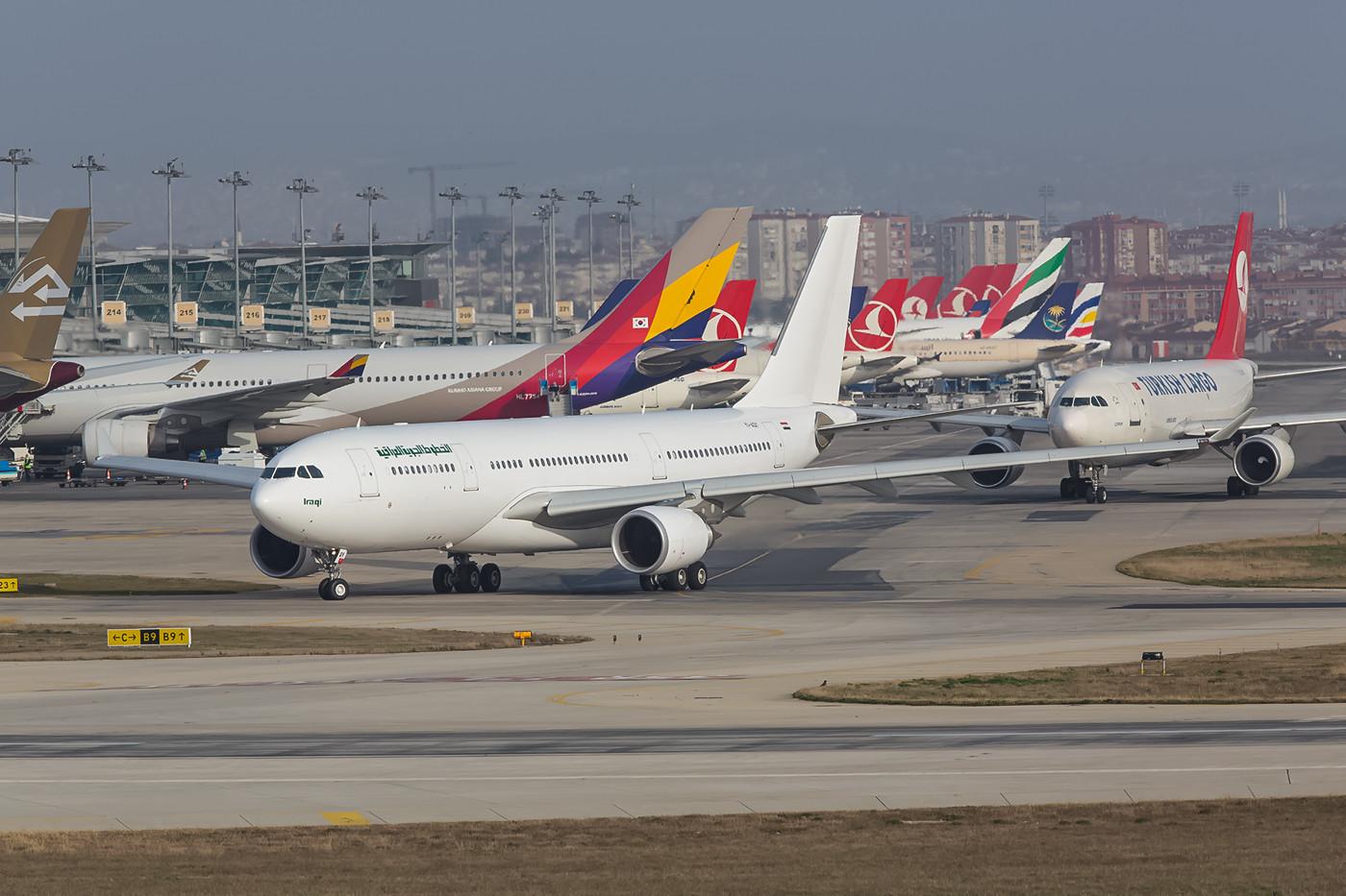 Ebenso dieser brandneue Airbus A330.