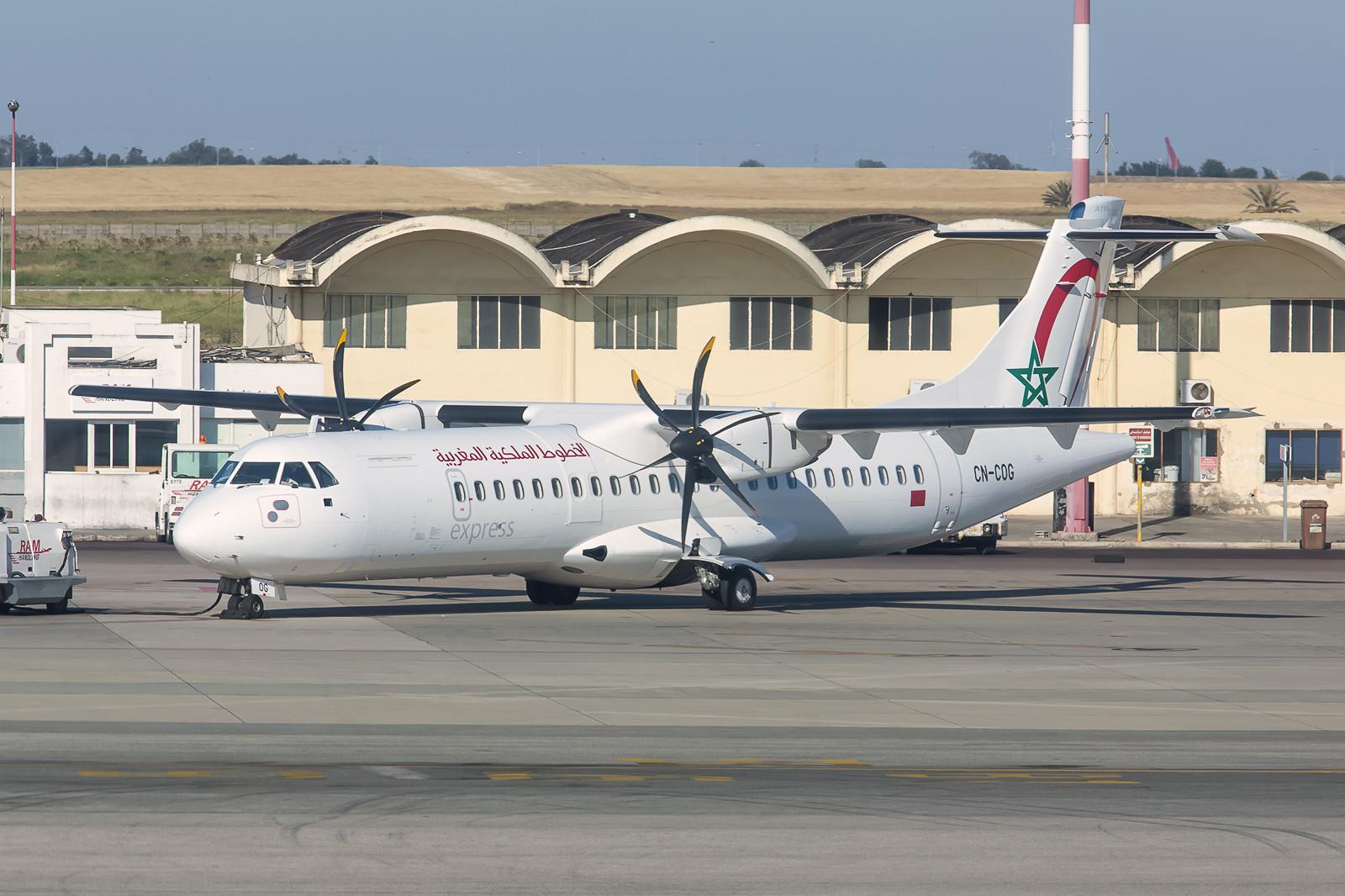 Meinen spontanen Inlandsflug von RAK nach CMN absolvierte ich in dieser ATR72-600