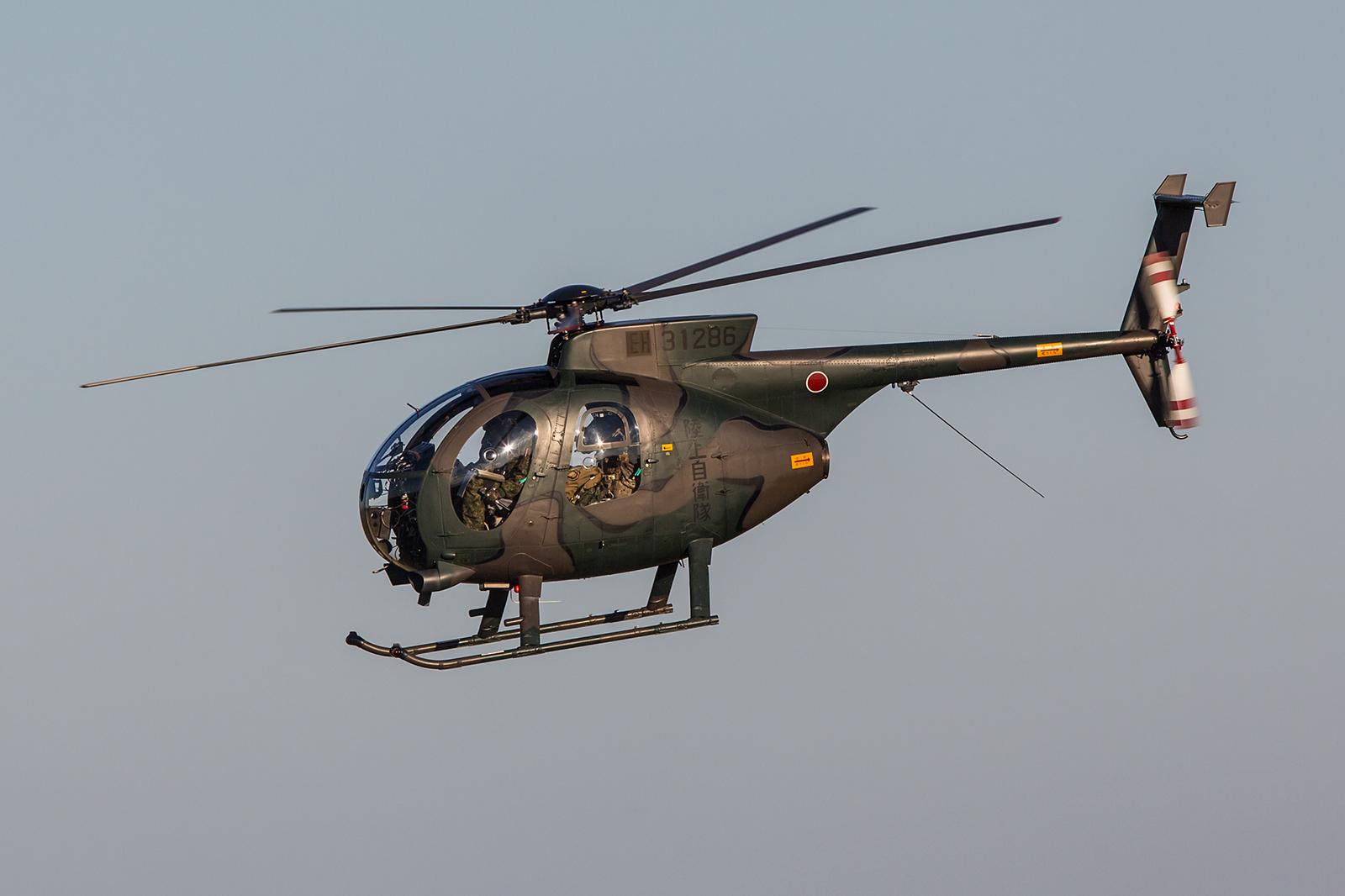 OH-6 aus Camp Tachikawa, ebenfalls am Stadtrand von Tokyo gelegen.