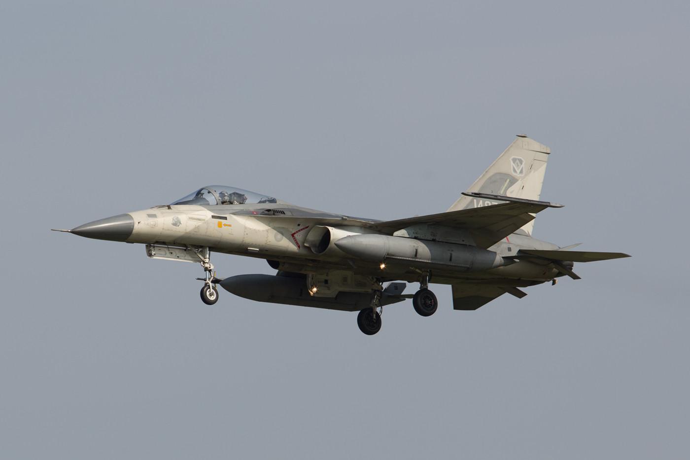 Ebenfalls am Nachmittag kam diese Maschine der 1st TFW zur Landung.