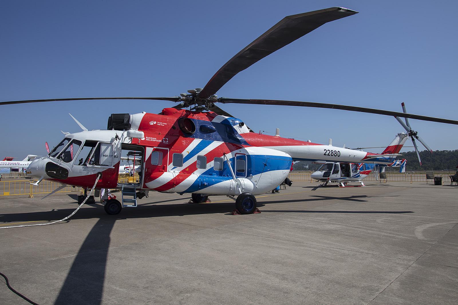 Das erfolgreichste Hubschraubermodel der Welt in seiner neuesten Version, Der Mil-171 auf Tour in Südostasien.