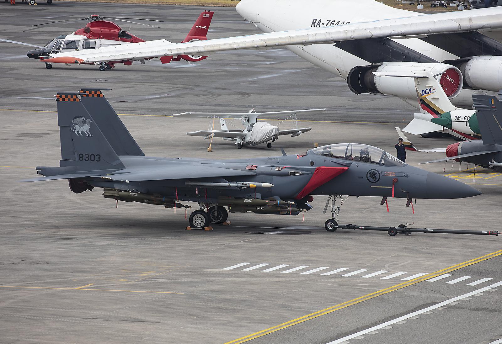 McDonnell Douglas F-15SG der Royal Singapore Air Force.