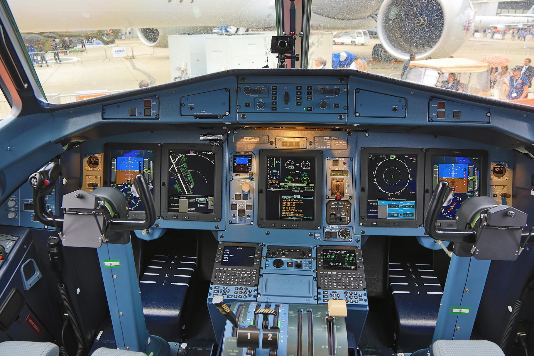 Das Cockpit der ATR.
