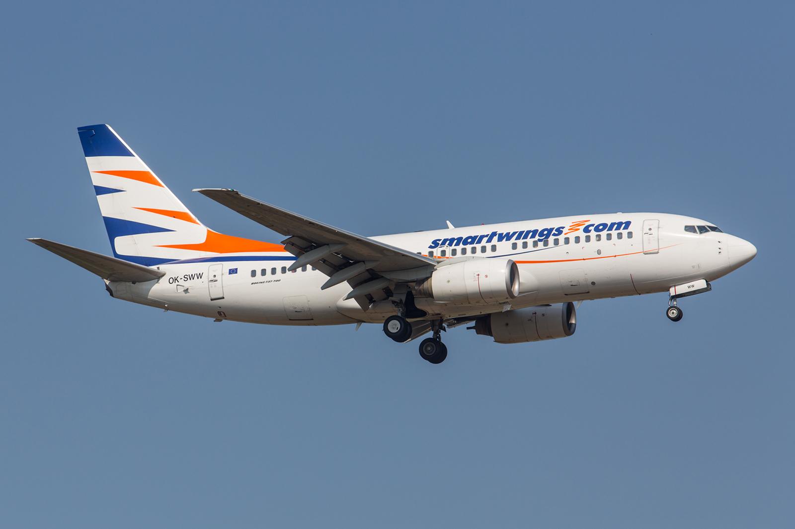 Wie oben bereits beschrieben ist die Smartwings eine Tochter der Travel Service. Hier die OK-SWW eine Boeing 737-7Q8, welche ehemals für Malev unterwegs war.