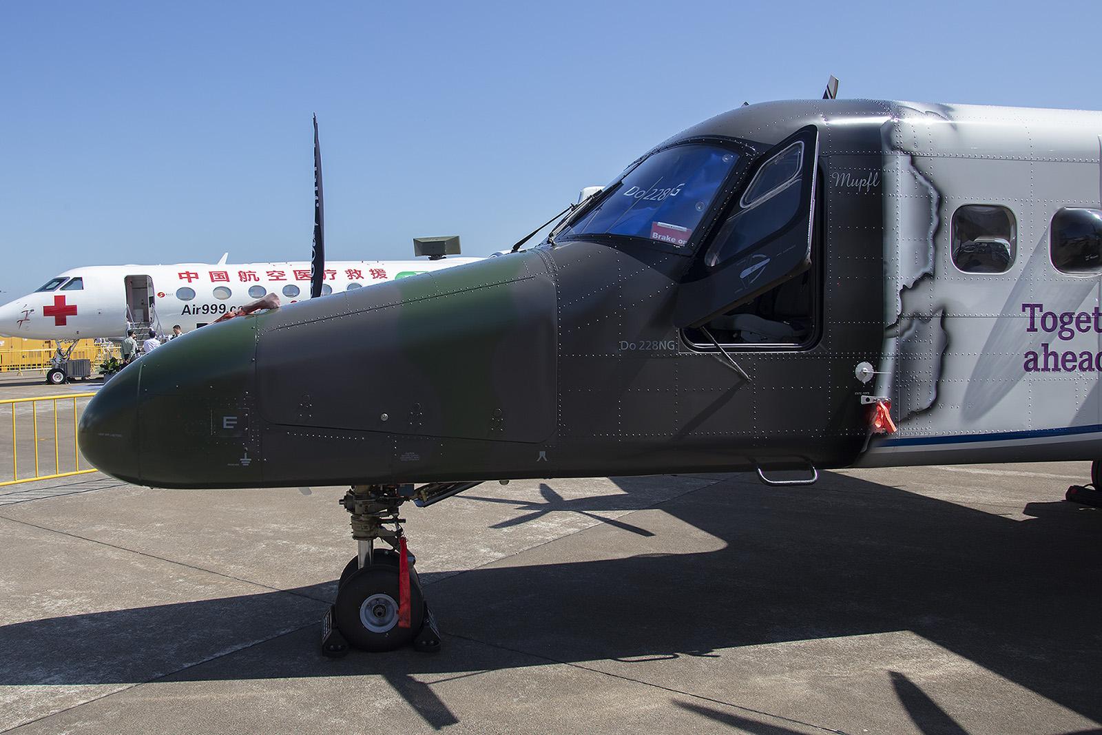Aus Oberpfaffenhofen kam die Dornier Do-228NG, die heute von RUAG produziert wird.