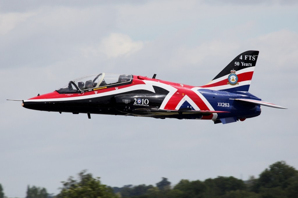 Der BAe Hawk des Solo Display Teams der RAF
