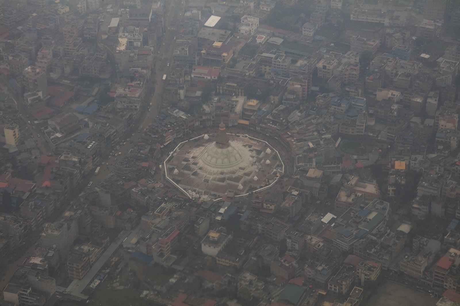 Das Boudhanath, einer der bedeutendsten buddhistischen Tempel.