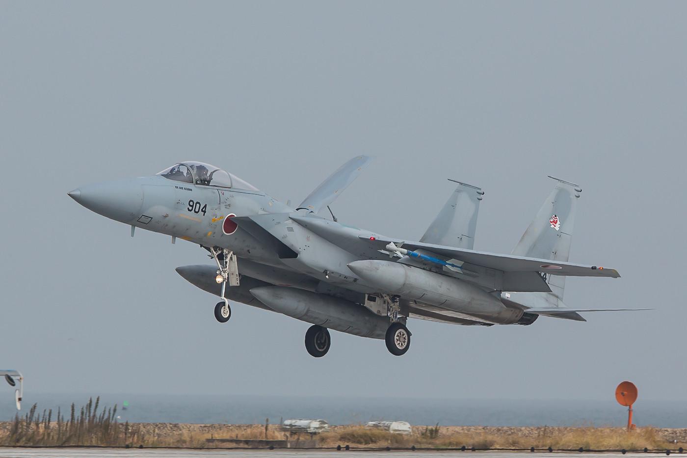 Eine F-15 der 304 Hikotai kurz vor dem Aufsetzen. Im nächsten Jahr geht die Staffel nach Naha.
