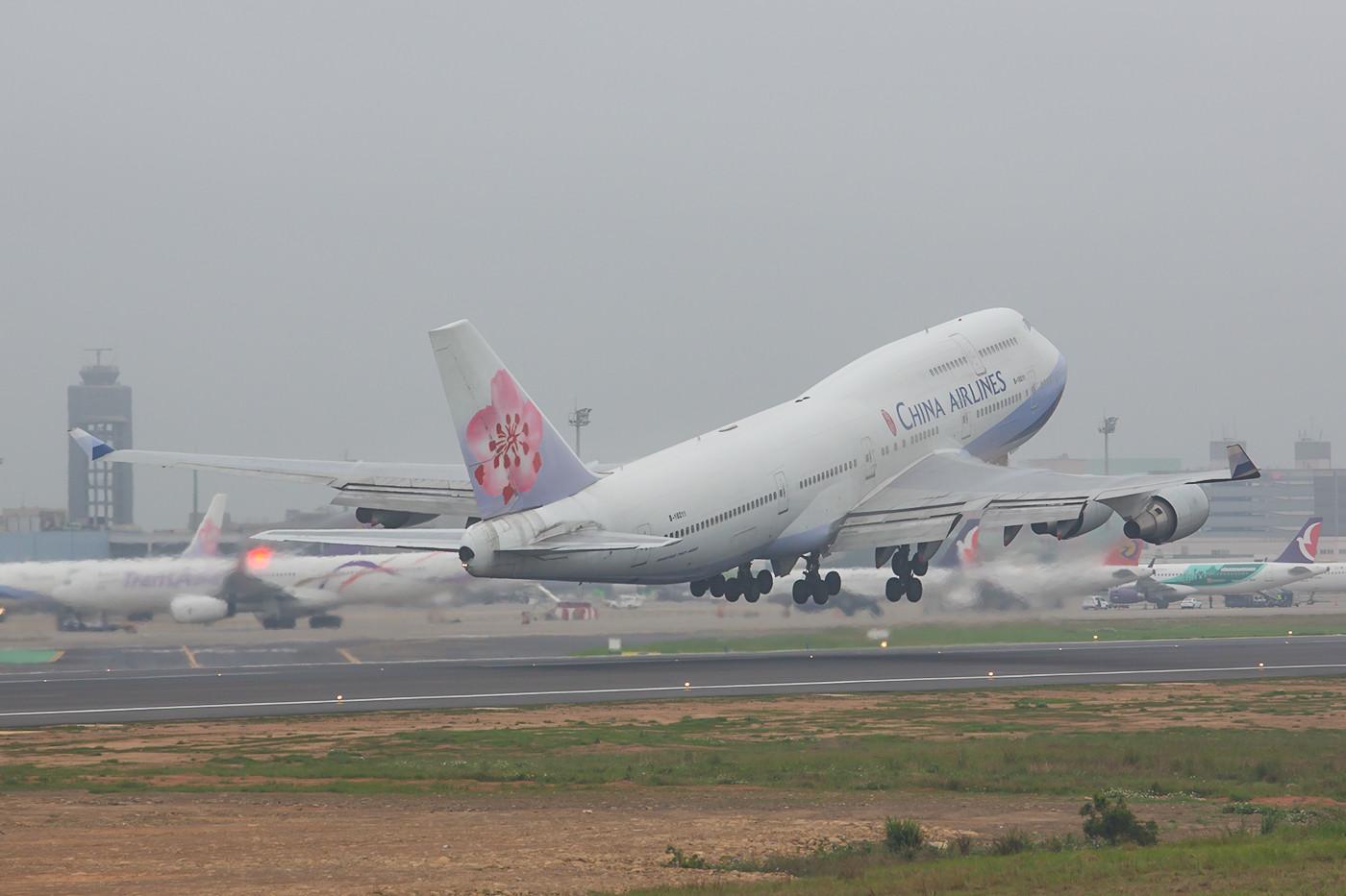 Noch sind einige Boeing 747 bei China Airlines im Einsatz,.....