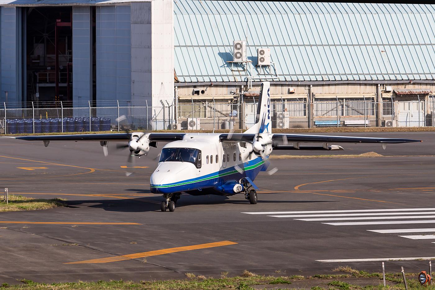 Dornier DO-228NG der New Central Air. Der neue 5-Blattpropeller macht sie leicht erkennbar.