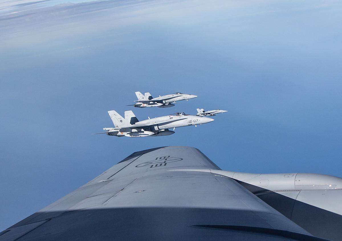 Drei der vier Hornets aus Torrejon.